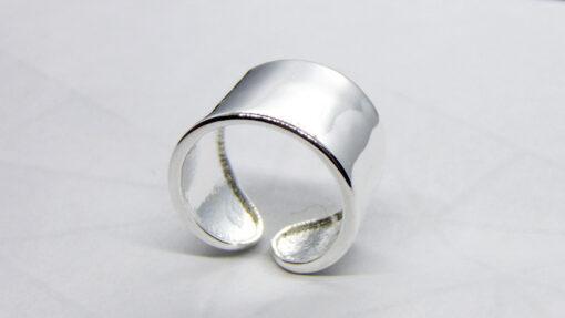 δαχτυλιδι απο αληθινο ασημι 925 με γάμπα που ανοιγει