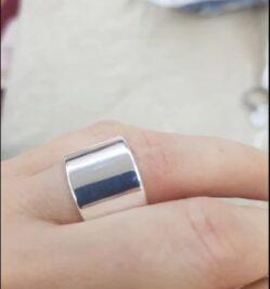 πλατυ ασημενιο δαχτυλιδι