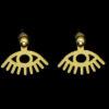 σκουλαρικια ματι χρυσο