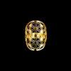 δαχτυλιδι διατρητο ατσαλινο χρυσο