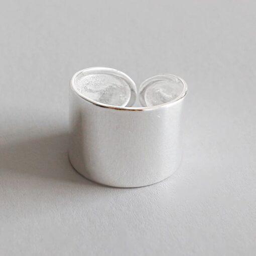 Πλατυ ασημενιο δαχτυλιδι 925