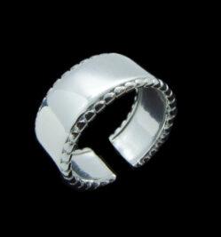 μοντερνο πλατυ δαχτυλιδι 925