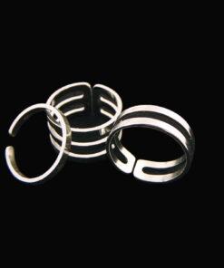 ατσαλινο Τριπλό δαχτυλίδι ασημένιο