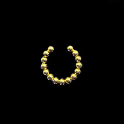 Ear cuff μπιλάκια χρυσο