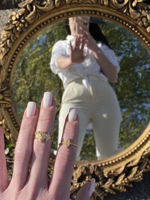 δαχτυλιδια χρυσα απο ασημι σετ