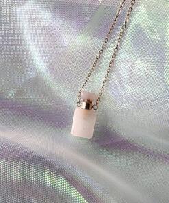 ροζ χαλαζιας κολιε